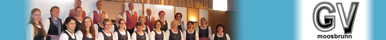 Website des Gesangvereins Moosbrunn